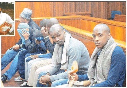 ?? Pictures: FREDLIN ADRIAAN ?? IN THE DOCK: The men accused of the horrific murders in court yesterday