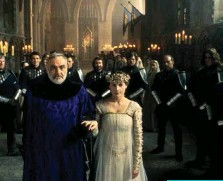 ??  ?? Above: Connery as King Arthur and Julia Ormond as Guinevere in First Knight.