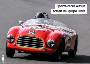 ??  ?? Sports-racer was in action in Equipe Libre