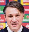 ?? Foto: Matthias Balk, dpa ?? Bayern-Trainer Niko Kovac strahlt Zuversicht aus.