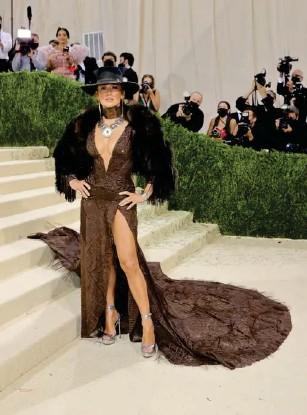?? (Getty) ?? J Lo wore Ra l ph Lauren