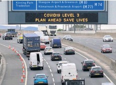 ??  ?? TRAFFIC SCOTLAND The control centre in Edinburgh manages major routes