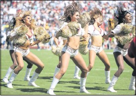 ?? DANIEL SANGJIB MIN/TIMES-DISPATCH ?? Washington cheerleade­rs performed during a Dallas Cowboys game at FedEx Field in Landover, Md., in September 2019. A dance team is set to replace the cheer squad.