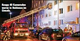?? ?? Knapp 40 Kameraden waren in Heidenau im Einsatz.
