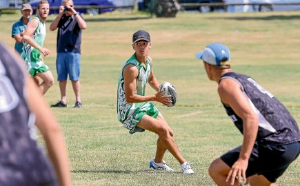 ?? SIMONE VILJOEN/STUDIO SEVENTY FOUR ?? Potene Rolls-paewai will be a key player for Manawatu¯ Black at the national touch championships this weekend.