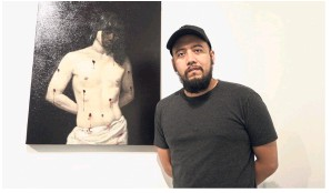 ??  ?? Montinola says the group exhibition is a diverse one, with layers of skin, layers of undertones, layers of painting or layers of illusion on the cards.