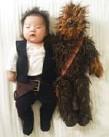 ?? LAURA IZUMIKAWA, @LAURAIZ ?? Baby Joey dressed as Han Solo, with a stuffed Chewy.