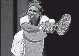 ?? Michael Dodge Getty Images ?? TOP-RANKED Serena Williams needed only 55 minutes to complete a 6-2, 6-1 victory over Margarita Gasparyan of Russia in fourth round at Melbourne Park.
