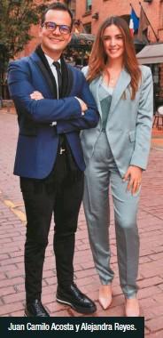 ??  ?? Juan Camilo Acosta y Alejandra Reyes.