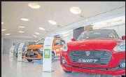?? BLOOMBERG ?? Maruti reported a 74.2% month-on-month decline.
