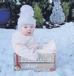 ??  ?? • Billie's first snow day at 6 months