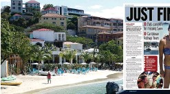 ??  ?? PARADISE RIDDLE 420 to Center bar in Cruz Bay... and Mirror's report a fortnight ago