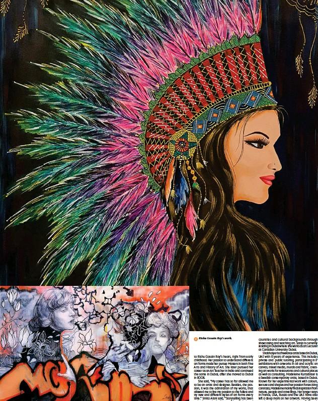 ??  ?? ↑ A great piece of work by Sanja Jankovic. ↑ Rishu Gosain Roy's work.