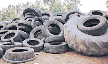 ?? FOTO: ARCHIVO ?? En Chile se consumen, anualmente, alrededor de 6,6 millones de neumáticos. LOS NEUMÁTICOS AL FINAL DE LA DÉCADA