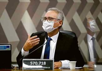 ?? Pedro Ladeira - 18.ago.21/Folhapress ?? O senador Renan Calheiros (MDB-AL), relator da CPI da Covid