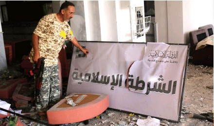 ??  ?? Daesh had set up a Libyan proto-state centered in Sirte before U.S.-backed forces ousted it last year.