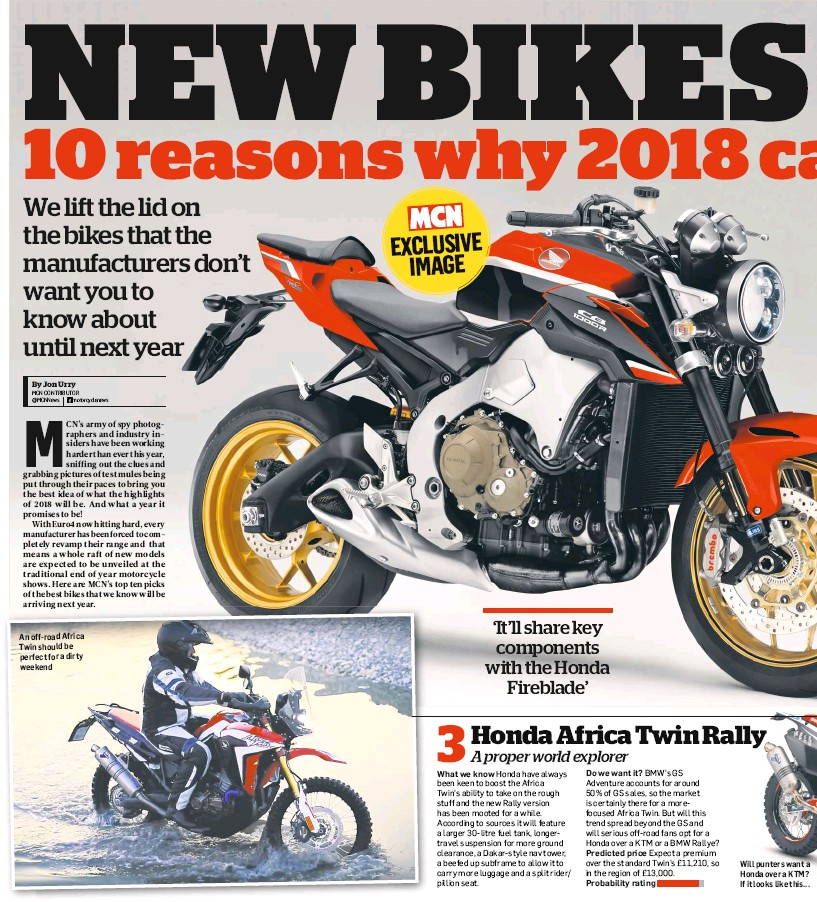 Pressreader Motorcycle News Uk 2017 08 16 Honda Cb1000rr