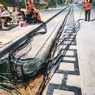 ?? FOTO RR ?? De wegen worden opnieuw aangelegd. Worden laadpalen zo overbodig?