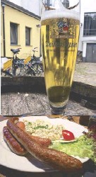 ??  ?? Clockwise from left: A beer stop on bikes; Hansa Recording Studio; a spy camera brassiere at Spy Museum; bratwurst at Lemke Berlin craft brewery.