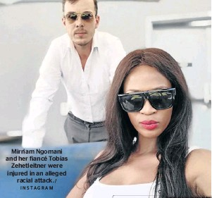 ?? INSTAGRAM / ?? Mirriam Ngomani and her fiancé Tobias Zehetleitner were injured in an alleged racial attack.