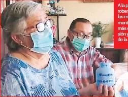 ??  ?? A la pareja le robaron hasta los medicamentos, además de la pensión y el 10% de la AFP.