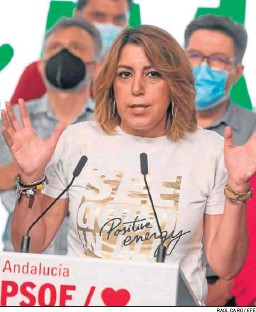 ?? RAÚL CARO / EFE ?? Susana Díaz, el pasado domingo.