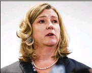 ?? JOHN MINCHILLO / ASSOCIATED PRESS 2019 ?? Dayton Mayor Nan Whaley, a Democrat, announced Monday she will try to unseat Republican Gov. Mike Dewine after her effort to work with him on gun reforms in the aftermath of a mass shooting in her city stalled.