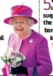 ??  ?? On 3 June 2012, the Queen rode on which Ju­bilee barge? a) Royal Shal­lop b) Glo­ri­ana c) Spirit Of Chartwell