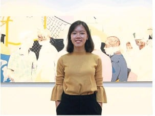 ?? — AZLINA ABDULLAH/The Star ?? 'I'm looking at the way everyday life flows,' says Liew about her paintings in the Invisible Cities series.