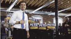 ?? FOTO: MIKE THEILER/IMAGO IMAGES ?? Pete Buttigieg trat gegen Joe Biden im demokratischen Kandidatenrennen an. Nun soll er Verkehrsminister werden.