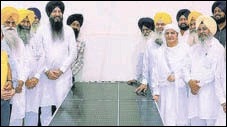 ?? HT PHOTO ?? SGPC president Bibi Jagir Kaur along with others during the inauguration of work in Amritsar on Friday.