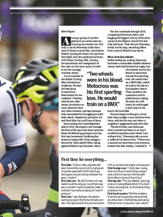 Pressreader Cycling Weekly 2017 01 19 Jacob Hennessy On His