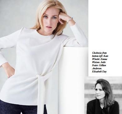 ??  ?? Clockwise from bottom left: Kate Winslet. Emma Watson. Jodie Foster. Gillian Anderson. Elizabeth Day