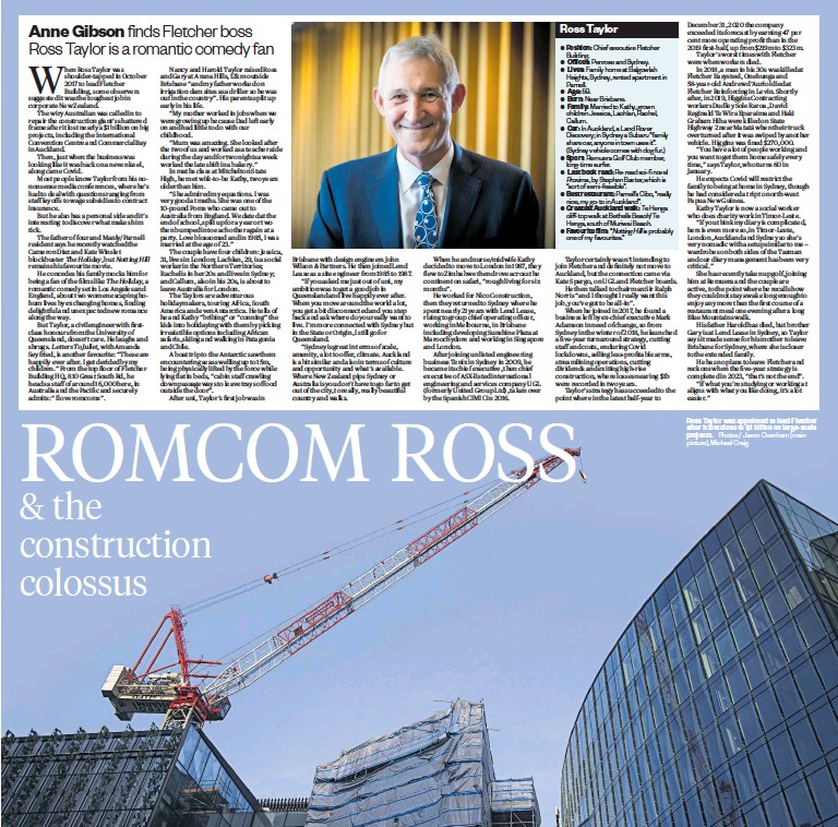 ?? Photos / Jason Oxenham (main picture), Michael Craig ?? Ross Taylor was appointed to lead Fletcher after it lost close to $1 billion on large-scale projects.