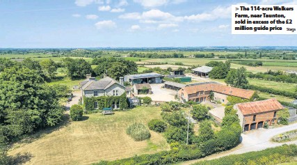 ?? Stags ?? The 114-acre Walkers Farm, near Taunton, sold in excess of the £2 million guide price