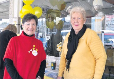 ??  ?? ■ Daf­fodil Day event co­or­di­na­tors Denise Phillips and Irene Davies.