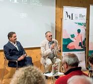 ??  ?? A Cortina Carlo Cottarelli a colloquio con il direttore del Corriere del Veneto, Alessandro Russello