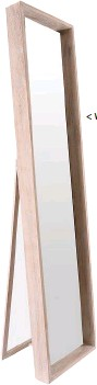 ??  ?? < Washed wood standing mirror (172 x 41cm) R1 300, MRP Home