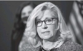 ?? J. SCOTT APPLEWHITE AP, file 2021 ?? Rep. Liz Cheney, R-Wyoming, tweeted Monday: 'The 2020 presidential election was not stolen. Anyone who claims it was is spreading THE BIG LIE, turning their back on the rule of law, and poisoning our democratic system.'