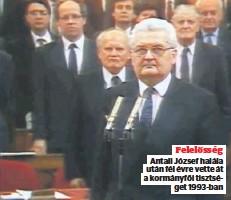 ??  ?? Felelősség Antall József halála után fél évre vette át a kormányfői tisztsé get 1993-ban