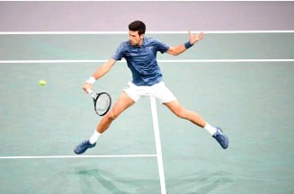 ??  ?? Djokovic will face a much more challenging test in the last eight.