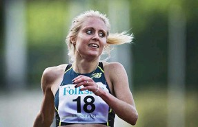 ?? Bild: ROBIN ARON ?? höger syns göteborgarna Mari Klaup, Ullevi, som vann 100 meter häck, Linn Nilsson, Hälle, som kom tvåa på 1500 meter