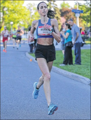 ?? SUBMITTED PHOTO ?? Jennifer Murrin has won the women's championship in five local road races this season — two five-kilometre events, an 8K, a 10K and a half marathon.