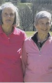 ??  ?? Blunt Cup winners Rosemary Martin and Rosemary Wiliams