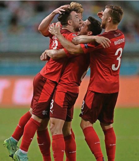 ?? GETTY ?? Heute wollen wir viele Schweizer Tore sehen, wie zuletzt beim 3:1 gegen die Türkei in der EM-Vorrunde.