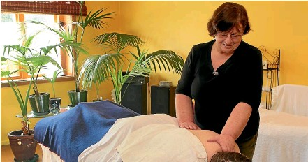 ??  ?? Massage therapist Helen Forrest worked as a nurse for more than 35 years and is skilled in a variety of massage techniques.