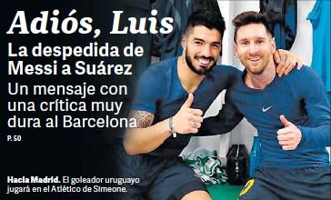 ??  ?? Hacia Madrid. El goleador uruguayo jugará en el Atlético de Simeone.