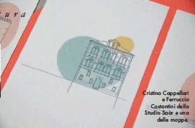 ??  ?? Cristina Cappellari e Ferruccio Costantini dello Studio Saòr e una delle mappe.