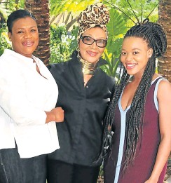 ?? Picture: John Liebenberg ?? Felicia Mabuza-Suttle with her sister Thandi Mabuza, left, and niece Palesa Mabuza