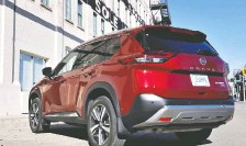 """??  ?? David Booth says he likes the exterior of the 2021 Nissan Rogue Platinum, but Nadine Filion writes that """"there's nothing sexy here."""""""